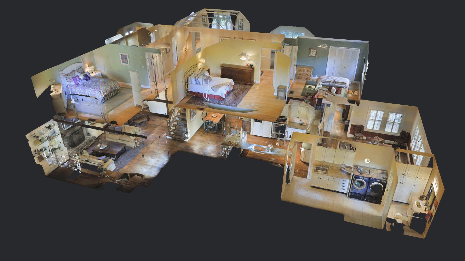 macheta tridimensionala tur virtual 3d